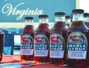 The Leesburg Winter Farmers Market is a sure bet for those looking for locally made gifts. Shoppers can get maple syrup from a Purcellville maple farm, yarn made from the wool of Loudoun-raised sheep and coffee roasted in Lovettsville. (Danielle Nadler/Loudoun Now)