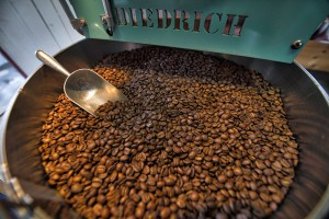 LoCo Beans fresh roasted coffee located in the Silo at Market Station in Leesburg Virginia. (Photo by Douglas Graham/Loudoun Now)