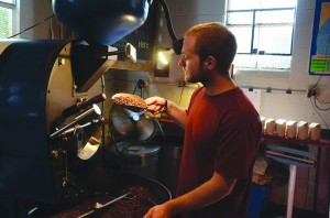 Coffee roasted by Sam Kayser, co-founder and operator of Lone Oak Coffee Company, can be found in a handful of coffee shops throughout Loudoun. (Courtesy of Hilary Hyland Photography)