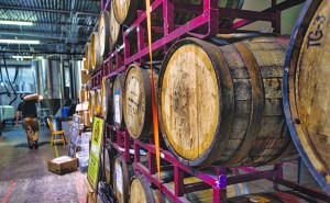 UNITED STATES - December 7, 2015: Lost Rhino Brewing Company in Ashbury Virginia. The brewery sits in the eastern part of Loudoun County Virginia and uses all locally harvested ingredients and also uses a really innovative technique of cultivating wild Virginia yeast strains from nearby orchards, meadows, and even fossils! (Photo By Douglas Graham/Loudoun Now)