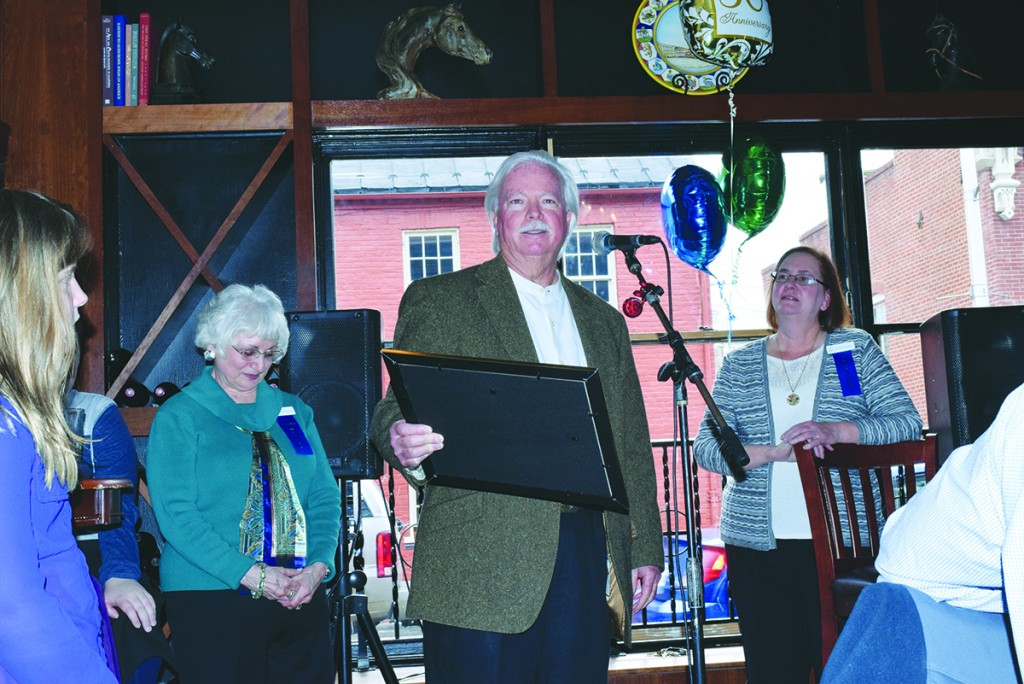 Palio owner Micheal O'Conner was given special recognition for hosting the Humane Society of Loudoun County's 50th anniversary kick off on Sunday.