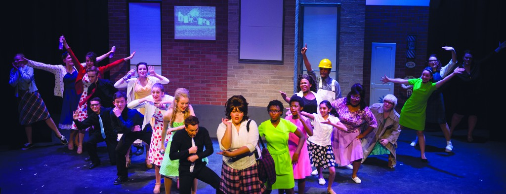 "Actors work out their lines during a dress rehearsal of ""Hairspray"" at Franklin Park Arts Center in Purcellville Virginia. (Photo by Douglas Graham/Loudoun Now)"