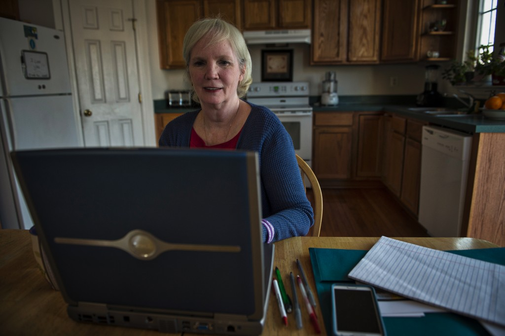 Writer Bobbi Carducci in her home in Round Hill, Virginia. (Douglas Graham/Loudoun Now)