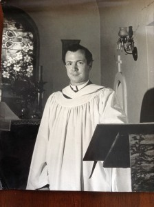 Pictured here is the seminarian Elijah B. White III when he assisted at The Church of Our Savior while attending Virginia Theological Seminary in 1965-68.