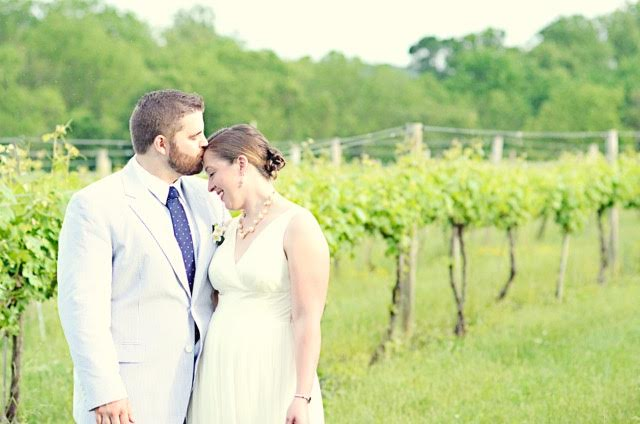 Meredith Hatch married Ian Buggey at her family's vineyard in 2012. The Hatch family has since built a new barn for events and plans to host weddings on a larger scale. (Meredith Michelle Photography)